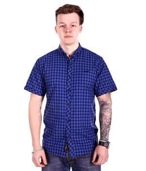 Рубашка с коротким рукавом Rigans Турция s1519/3 Синяя