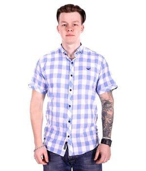 Рубашка с коротким рукавом Rigans Турция s1017/2 Голубая
