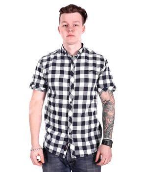 Рубашка с коротким рукавом Ronex Турция s1017/1 Темно-синяя