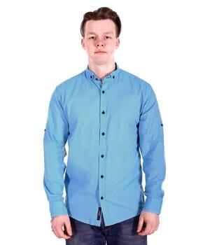 Рубашка Ronex в точку s0918/1 Голубая