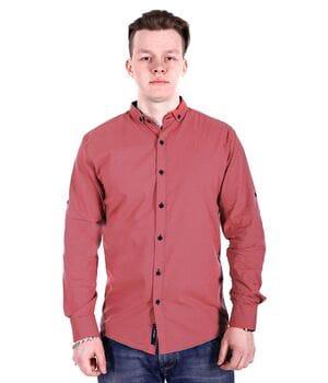 Рубашка Ronex в точку s0918/2 Коралловая