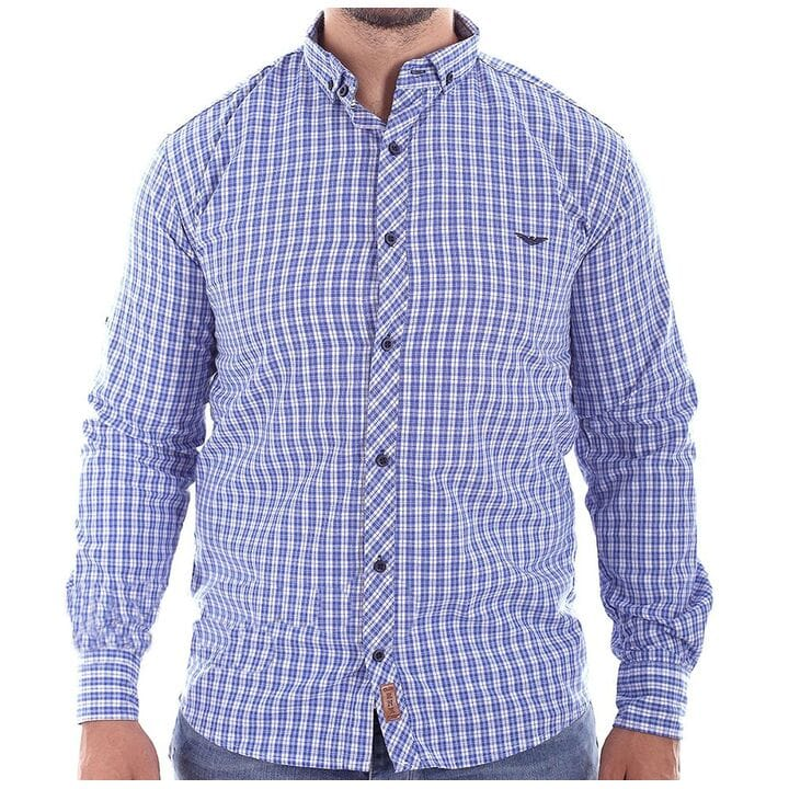Мужская рубашка в клетку Ronex производство Турция (s1418/2)