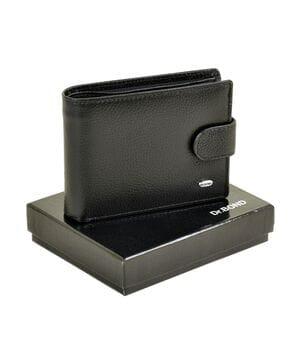Кожаный мужской кошелек Dr.BOND М8-1 черный