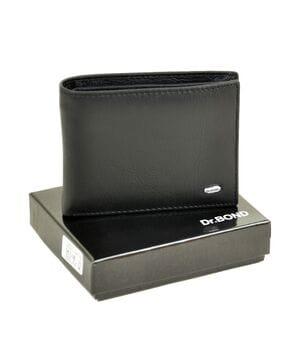Кожаный мужской кошелек Dr.BOND Msm-8 черный