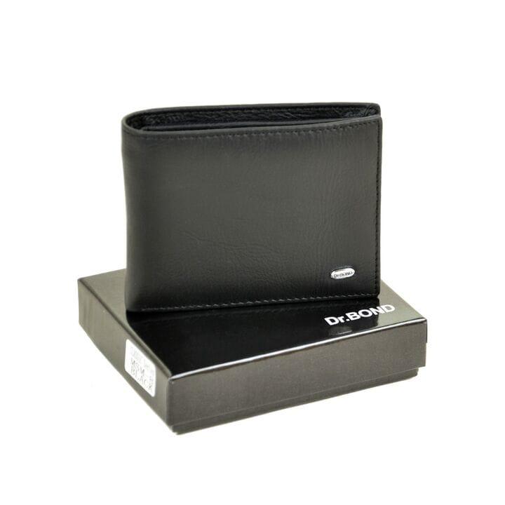 Кожаный мужской кошелек Msm-8 черный
