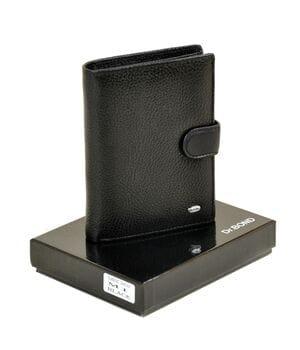 Кожаный мужской кошелек Dr.BOND М1 черный