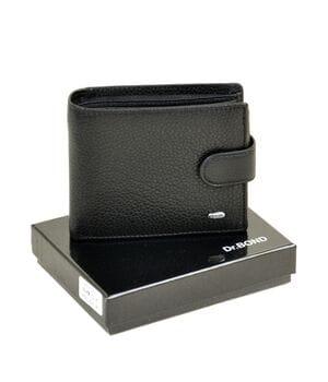 Кожаный мужской кошелек Dr.BOND М2 черный