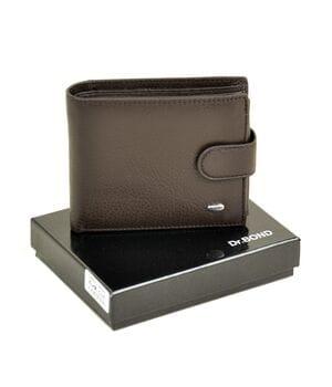 Кожаный мужской кошелек Dr.BOND М2/1 коричневый