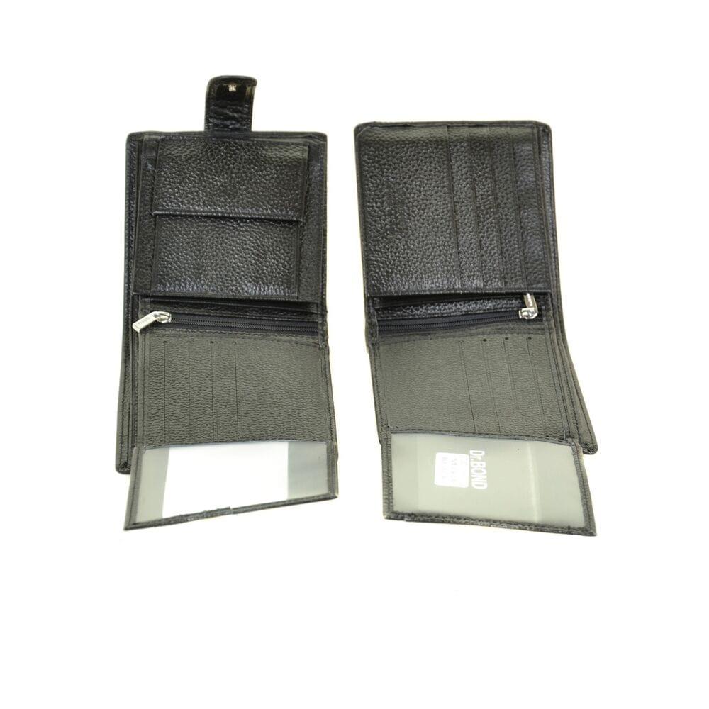 c5ef3e051015 Купить Мужской кожаный кошелек Dr.BOND м53/1 черный 9784-03 в ...