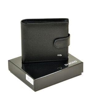 Мужской кожаный кошелек Dr.BOND м53/1 черный