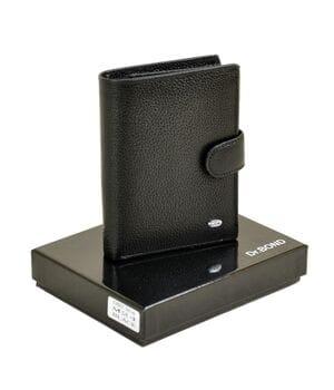 Кожаный мужской кошелек Dr.BOND М24 черный