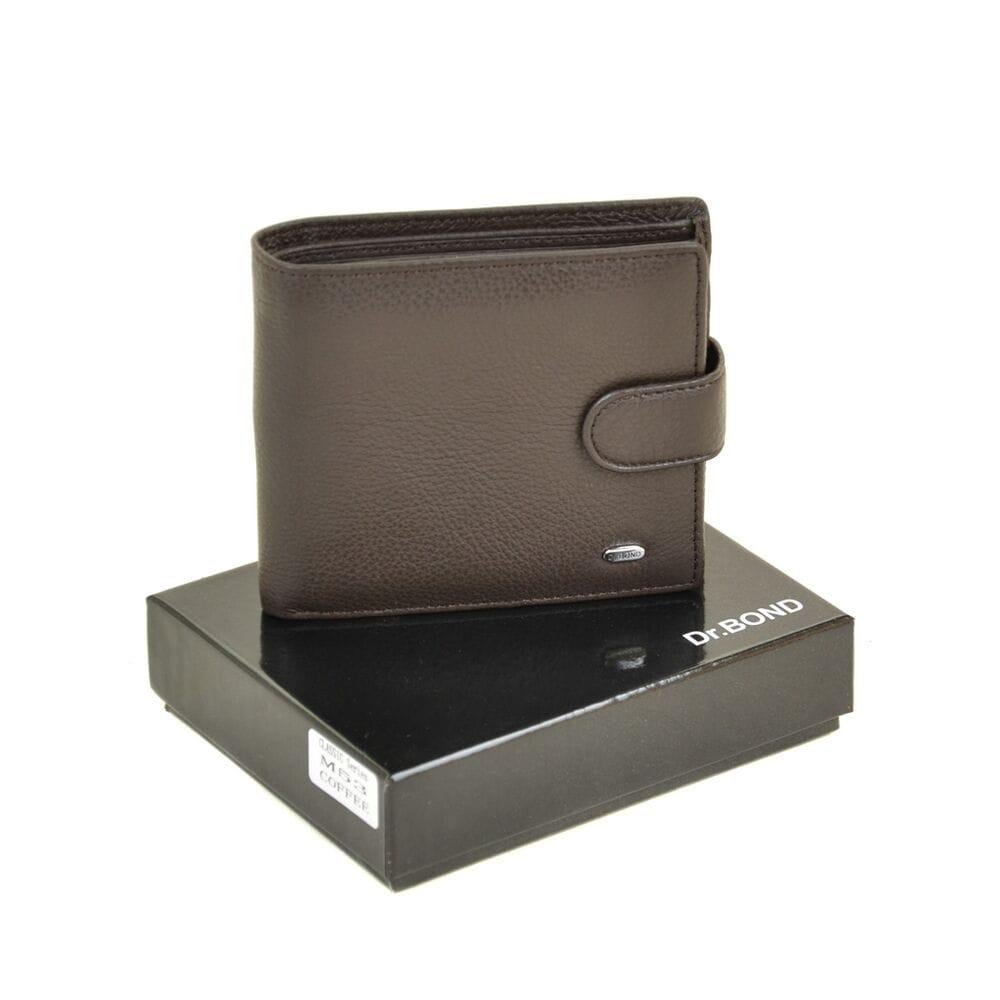 285747d6cea6 Купить Мужской кожаный кошелек Dr.BOND м53/2 коричневый 9785-03 в ...