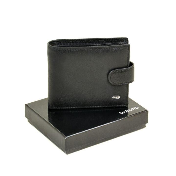 Кожаное мужское портмоне Dr.BOND m13-1/1 черное