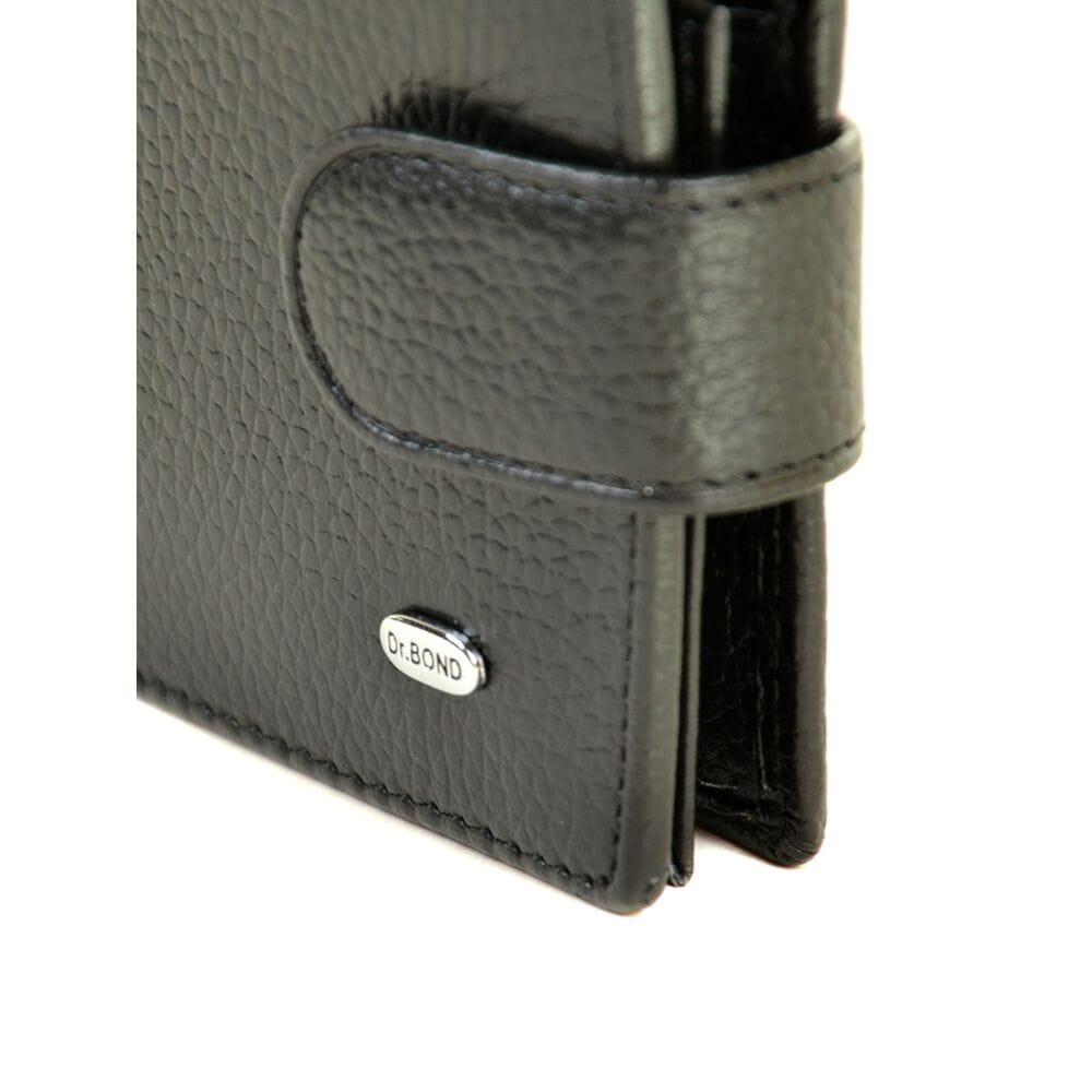 beaa557c6bb2 Купить Кожаный мужской кошелек Dr.BOND М14 черный 9076-03 в Украине ...