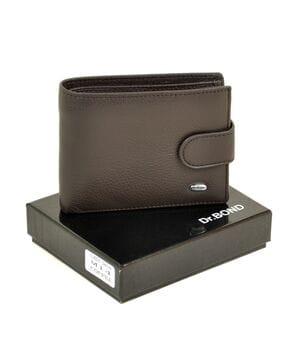 Кожаный мужской кошелек Dr.BOND М14/1 коричневый