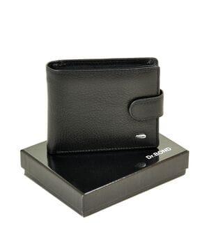 Кожаный мужской кошелек Dr.BOND М4 черный