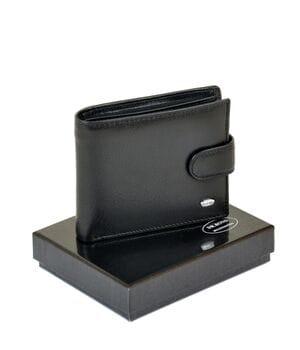 Кожаный мужской кошелек Dr.BOND М3 черный
