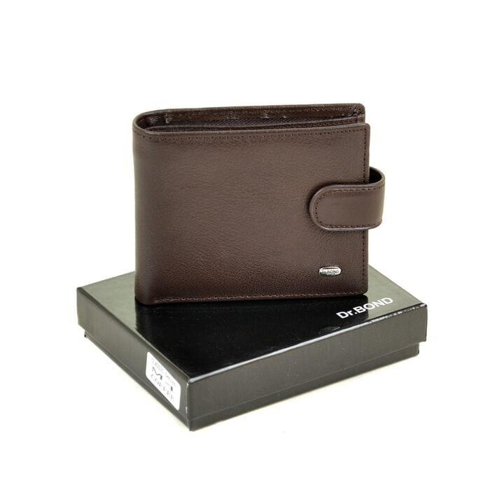 Кожаный мужской кошелек Dr.BOND М4/2 коричневый