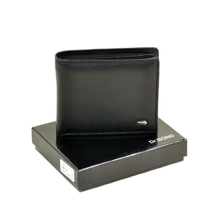 Кожаный мужской кошелек М9-1 черный