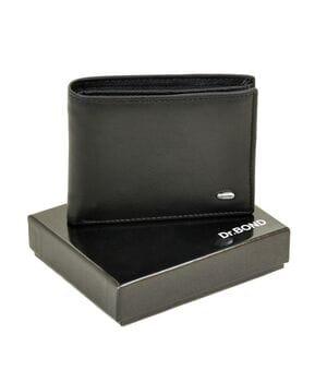 Черный мужской кожаный кошелек Dr.BOND Msm-1
