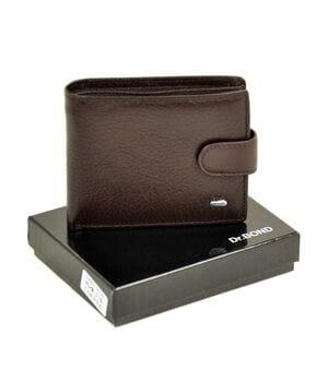 Кожаный мужской кошелек Dr.BOND М3/1 коричневый