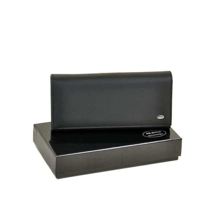 Женский кожаный кошелек Dr.BOND DRW501 черный