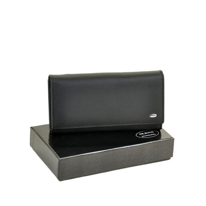 Женский кожаный кошелек Dr.BOND DRW46 черный