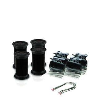 Электробигуди Diva, черные, бигуди+шпильки+зажимы, 32мм (D422)