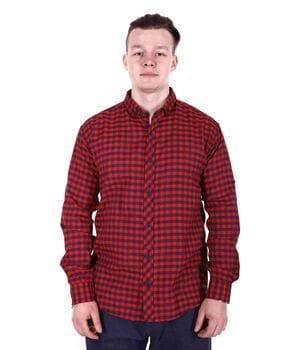 Рубашка батал Rigans турция b0118/2 бордовая