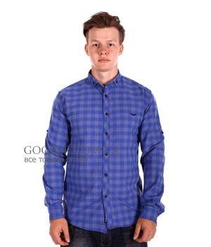 Мужская рубашка в клетку Ronex производство Турция (s0718/6)