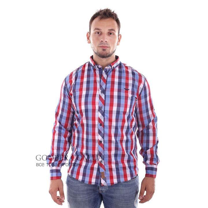 Мужская рубашка в клетку Ronex производство Турция (s1518/1)
