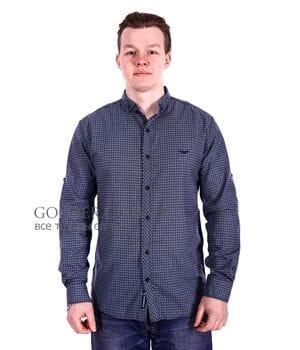 Мужская рубашка в клетку Ronex производство Турция (s1118/1)